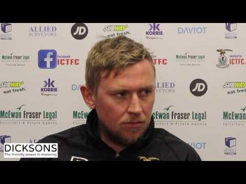 CaleyJagsTV : Richie Foran Match Preview v Ross County : 16/03/17