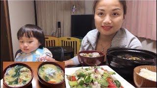 Ăn Cá Kèo Kho Tộ, Mực Xào Dưa Leo - Hướng Dẫn Nấu Sup Miso - Cuộc Sống ở Nhật #104