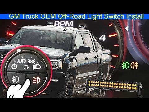 GM Truck OEM Off-Road Light Switch Install
