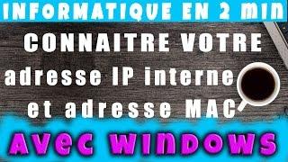Comment connaître l'adresse IP et MAC de mon ordinateur sur Windows # AlloOrdi