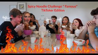 "SPICY NOODLE CHALLENGE ""FAMOUS"" TIKTOKER EDITION"