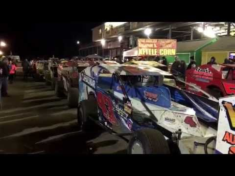 The last poker series race at Bridgeport speedway 2016 for the Big Block Modified's