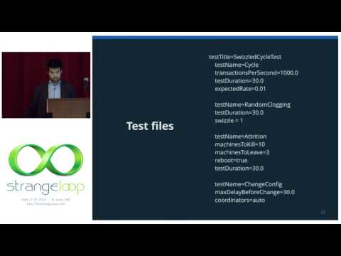 """""""Testing Distributed Systems w/ Deterministic Simulation"""" by Will Wilson"""