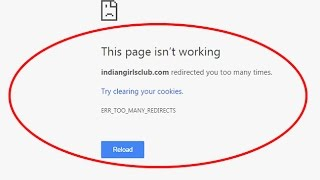 Fix ERR_TOO_MANY_REDIRECTS  This page isn't working in google chrome