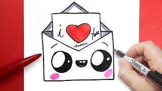 كيف ترسم برقية حب للاطفال | تعلم الرسم بطريقة سهلة