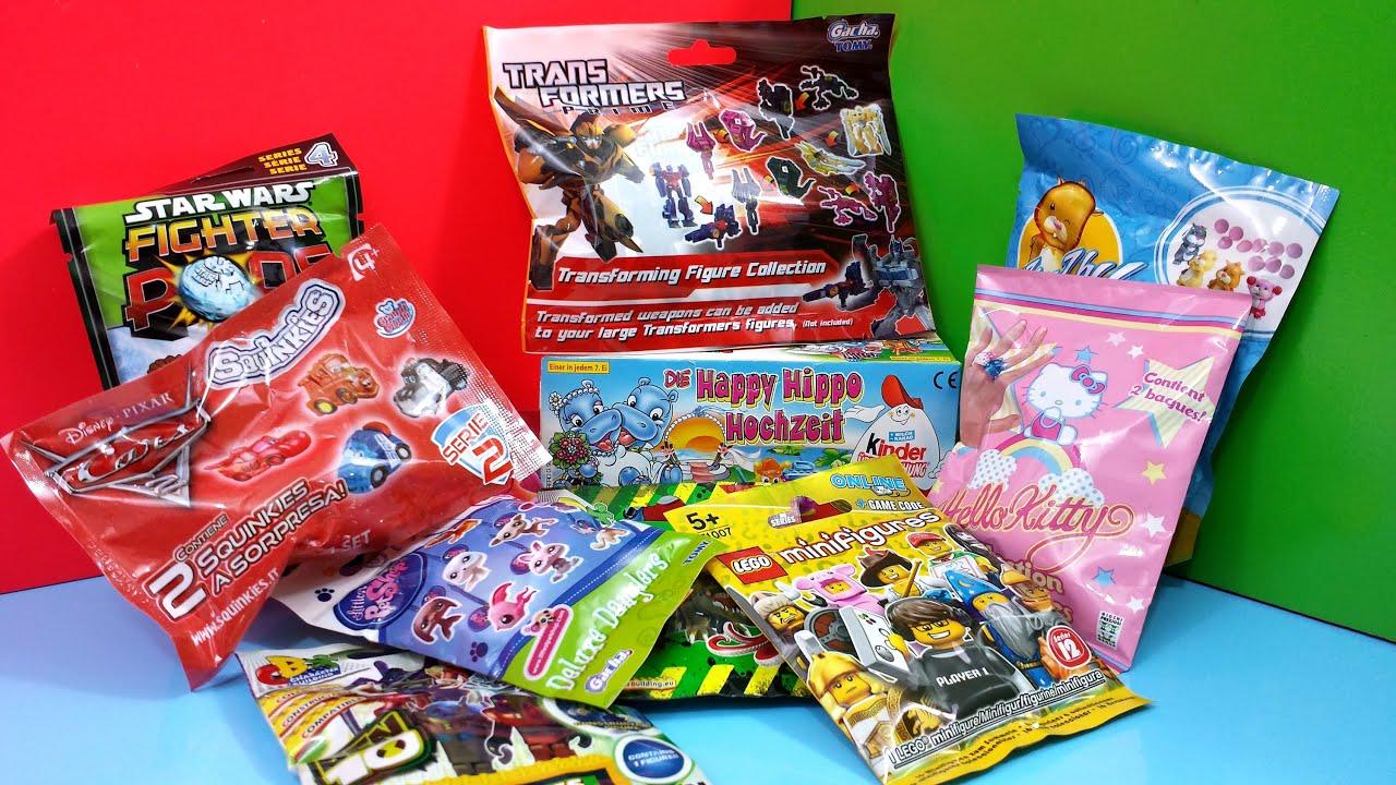 Opening Kinder Surprise Eggs Blind Bags Disney
