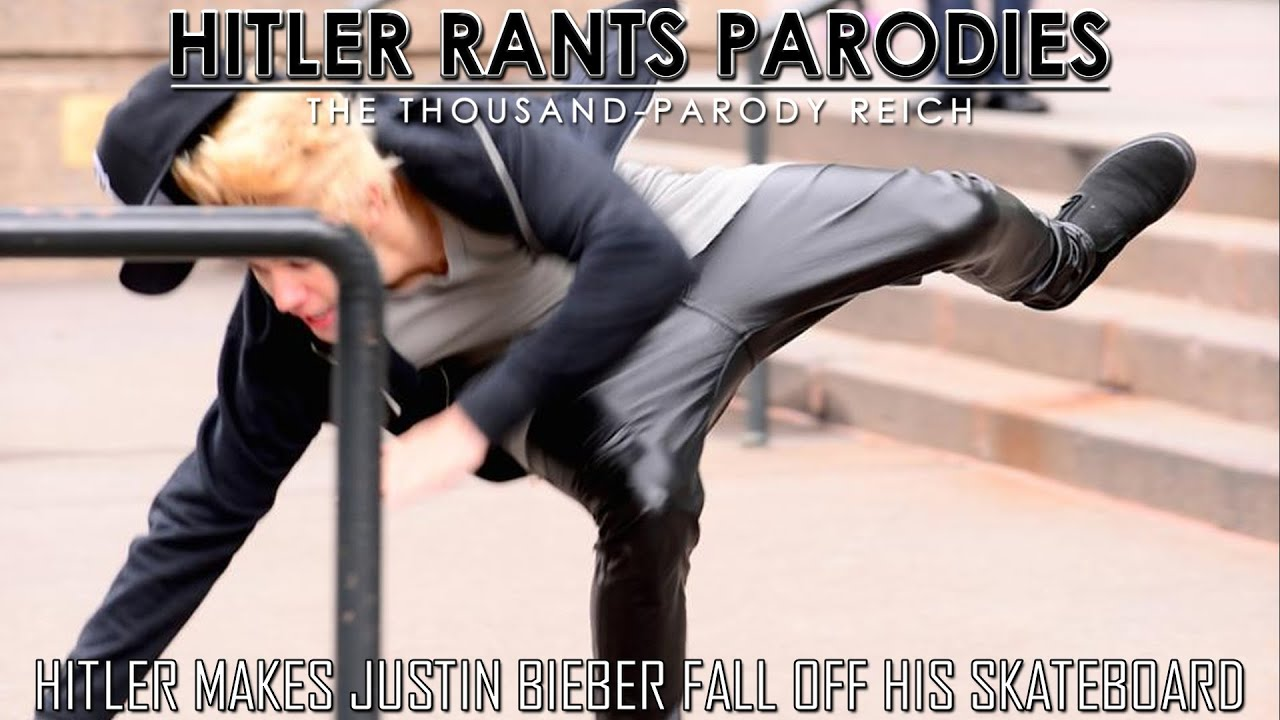 Hitler makes Justin Bieber fall off his skateboard