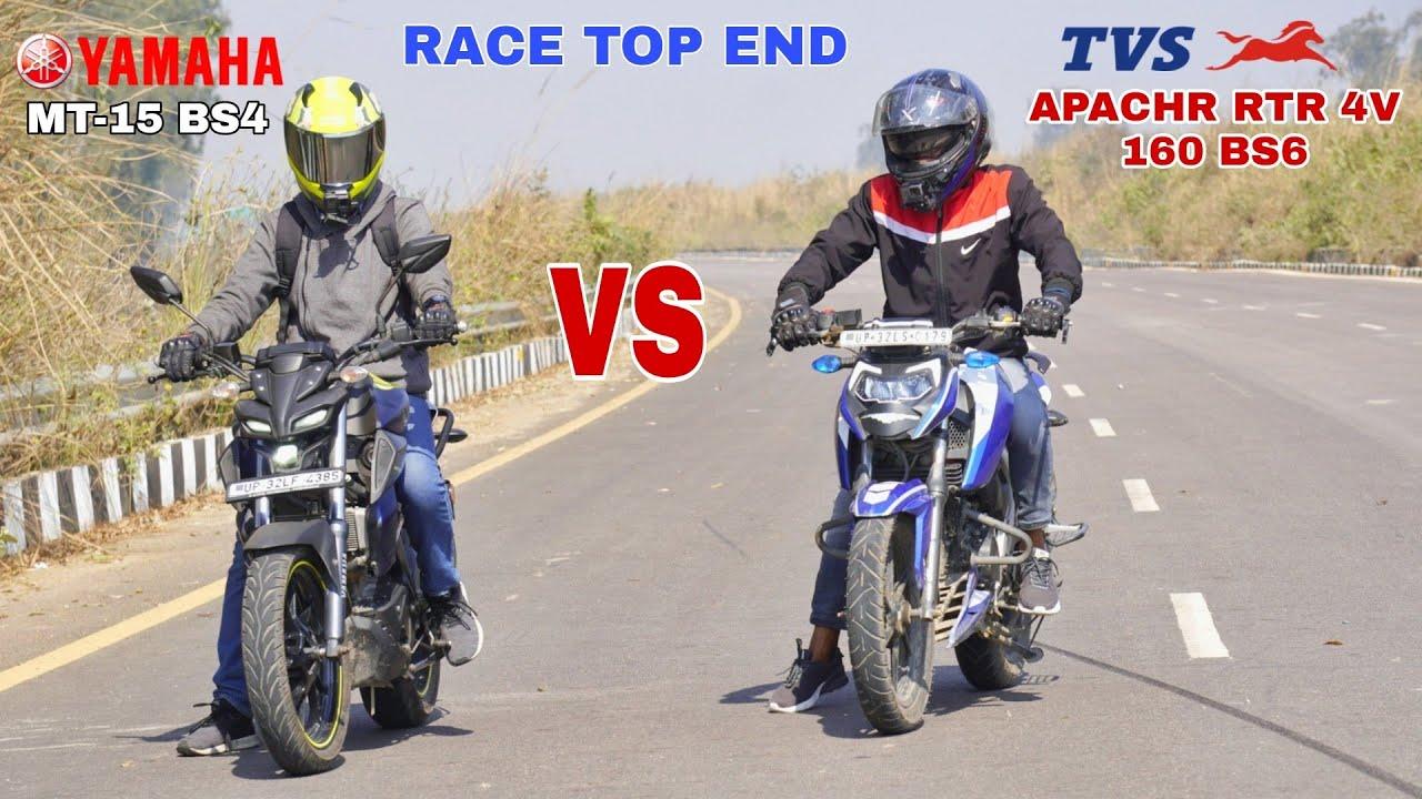Download BS6 TVS APACHE RTR 4V 160 VS YAMAHA MT-15 || RACE TILL THEIR POTENTIAL || SHUBHAM YADUVANSHI