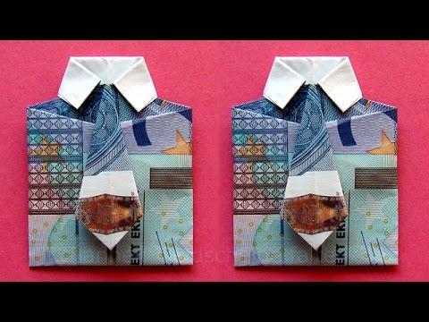 Geldscheine Falten Hemd Zum Geldgeschenke Basteln Youtube