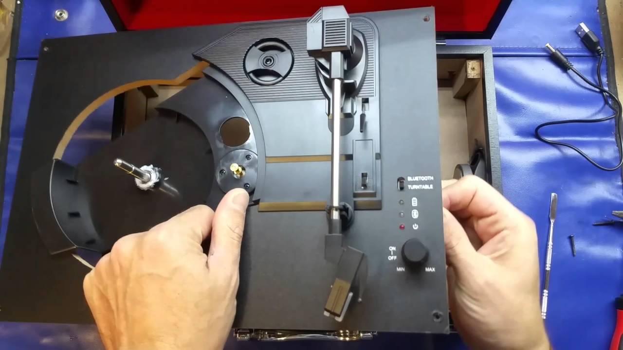 Intempo Bluetooth turntable record player teardown