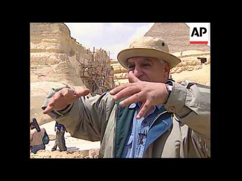 EGYPT: CAIRO: FINAL PHASE OF 10 YEAR RESTORATION PROJECT ON SPHINX