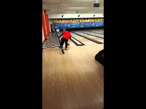 Denver Broncos CJ Anderson slow motion bowling