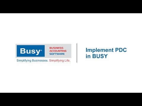 Implement PDC in BUSY