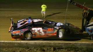 Late Model Crash | Chris Hackett | Stateline Speedway | 5-28-16