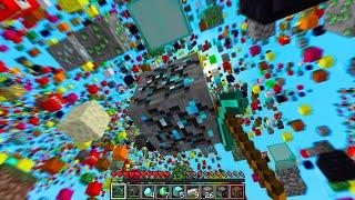 Minecraft but random blocks fall from the sky..