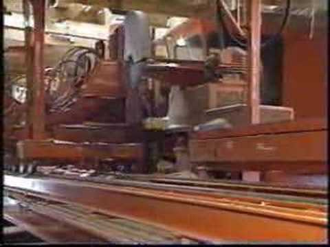 Industrial Sawmill in Operation