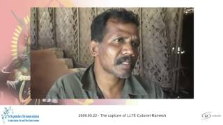 SRI LANKA WAR   episode   The capture of LLTE Colonel Ramesh