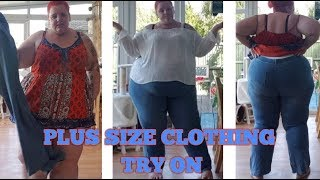 SSBBW clothes off plus size haul JEANS and TOP .. TRY ON
