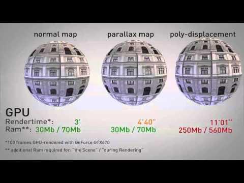 parallax occlusion render comparison - YouTube
