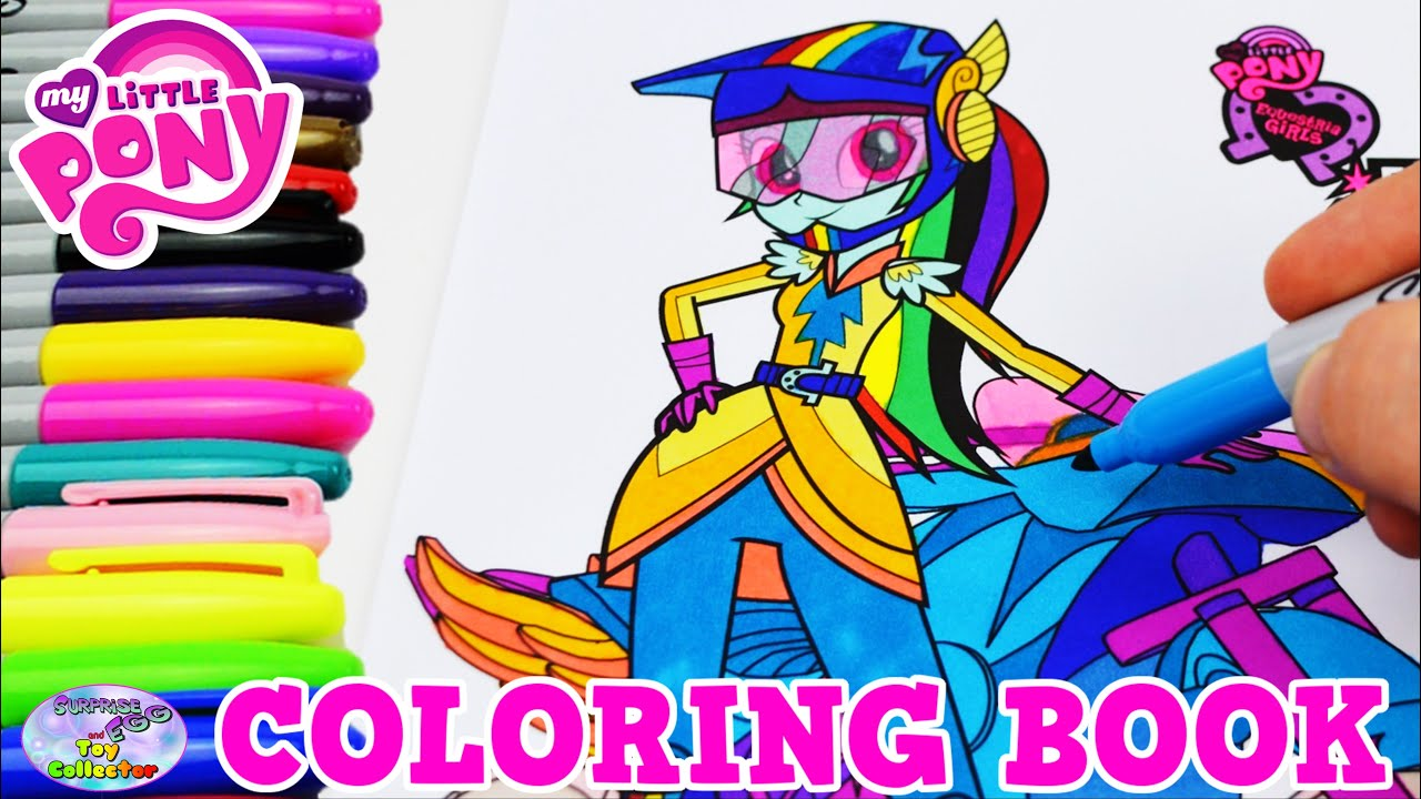 Mlp coloring pages dj pon 3 - My Little Pony Coloring Book Mlp Eg Rainbow Dash Episode Surprise Egg And Toy Collector Setc Youtube