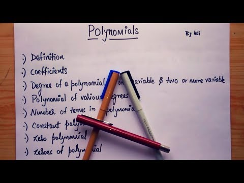 [ADI] POLYNOMIALS INTRODUCTION!!! In Hindi