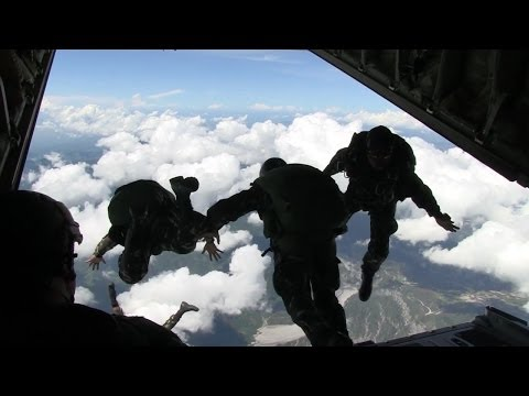 Philippine Army Special Forces Regiment (Airborne) Freefall Jump at KC-130J