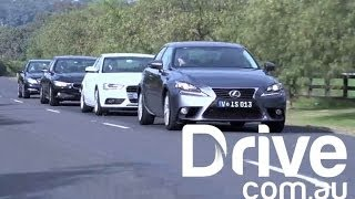 Lexus IS250 v BMW 316i v Mercedes C200 v Audi A4 | Luxury | Drive.com.au