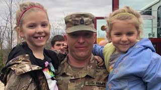 Military Dad Dresses as Firefighter in Surprise Reunion With Daughters
