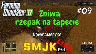 🔴 Żniwa rzepak na tapecie Nowa Ameryka - Farming Simulator 17 PS4 PL LIVE #09