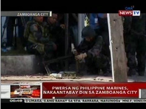 QRT: Pwersa ng Philippine Marines, nakaantabay din sa Zamboanga