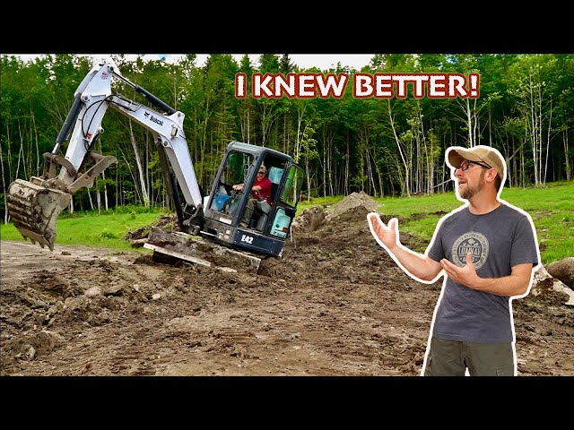 Just when I THOUGHT I was DONE! I BURIED the EXCAVATOR | Installing Our DIY OFF-GRID Water System