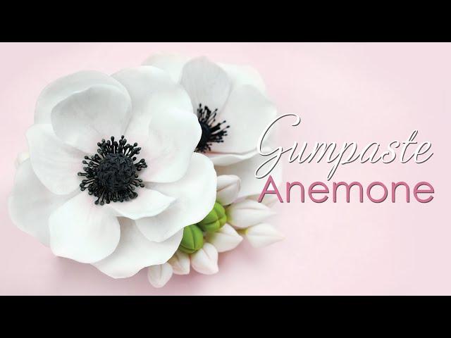 How to make a Gumpaste Anemone Flower Tutorial