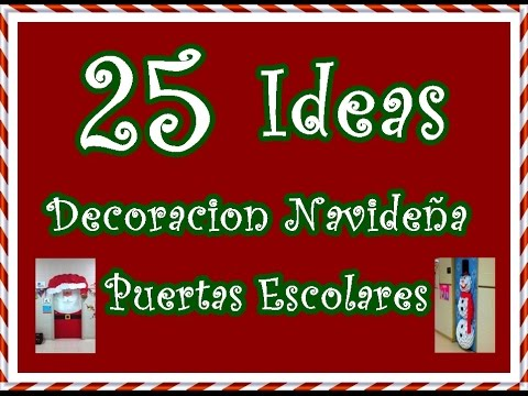 25 ideas decoracion navide a para puertas escolares 25 for Ideas para decorar puertas navidenas