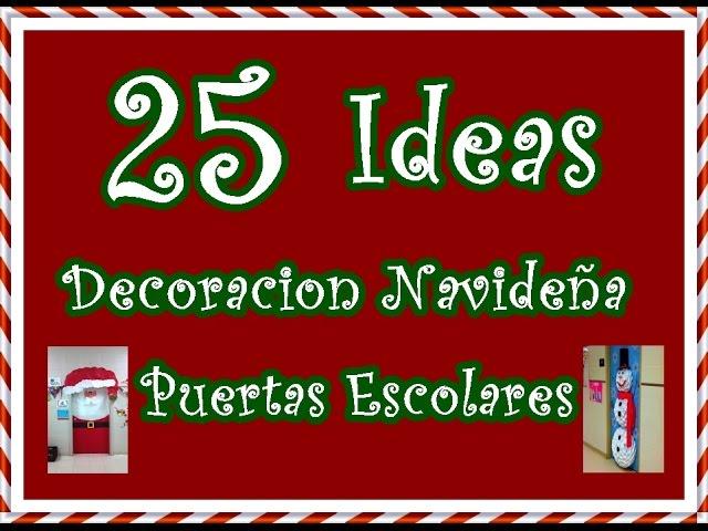 decoracion de puertas de navidad colegios