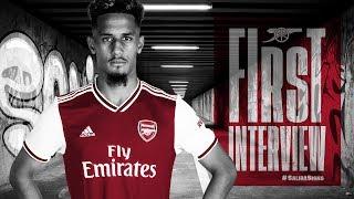 William Saliba's first Arsenal interview | #SalibaSigns