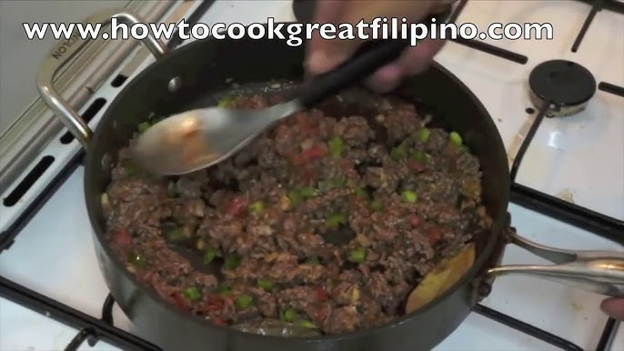 Giniling Na Baka Filipino Recipe Pinoy Minced Beef Youtube