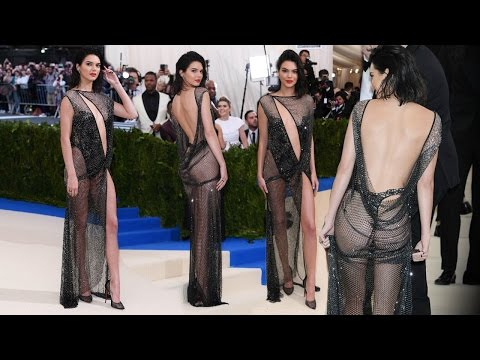 Kendall Jenner Goes Nearly N@ked In See-Through Dress At Red Carpet Of Met Gala 2017 !!