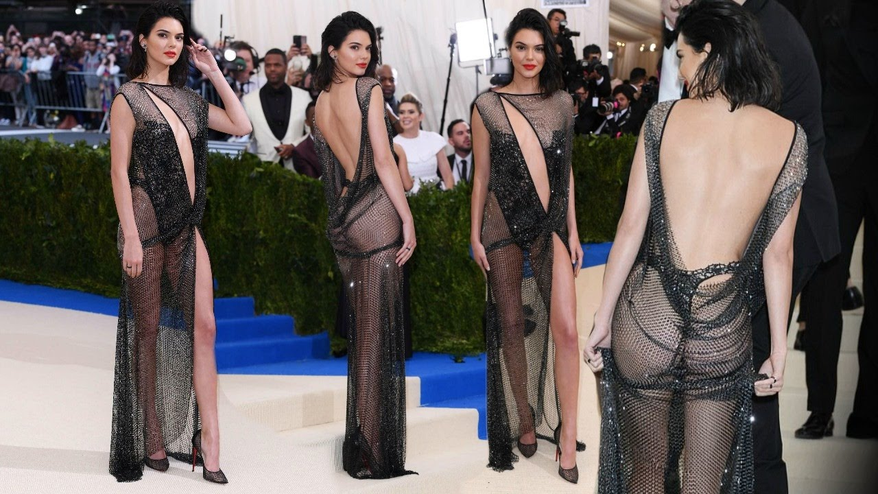 Kendall Jenner Goes Nearly N@ked In See-Through Dress At Red Carpet ...