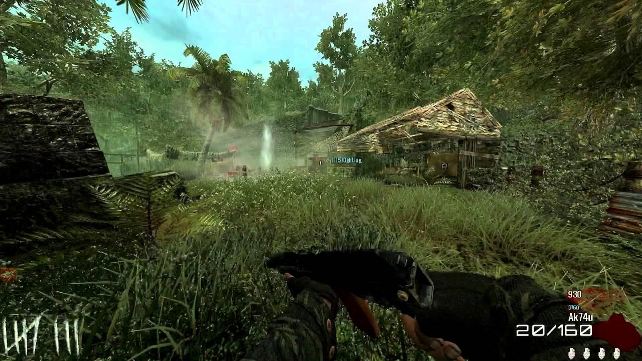 Call Of Duty WAW : Custom Zombies - Map #4 : Encampment - ALL GUNS ...