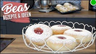 Fluffig- weiche Berliner Pfannkuchen aus dem Backofen | Rezept