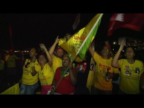 Pro-Rousseff demonstrators take to the streets of Brazil
