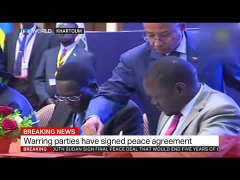 Warring South Sudan parties sign peace deal