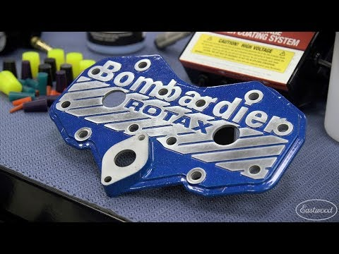 how-to-powder-coat-engine-parts-&-add-cool-effects---powder-coating-an-engine-cover---eastwood