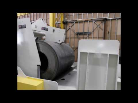 Mecon Industries  60,000psi steel being uncoiled