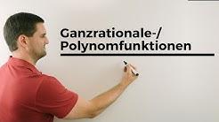 Ganzrationale-/Polynomfunktionen, Grundlagen, Koeffizienten, Absolutglied, Exponent, Grad
