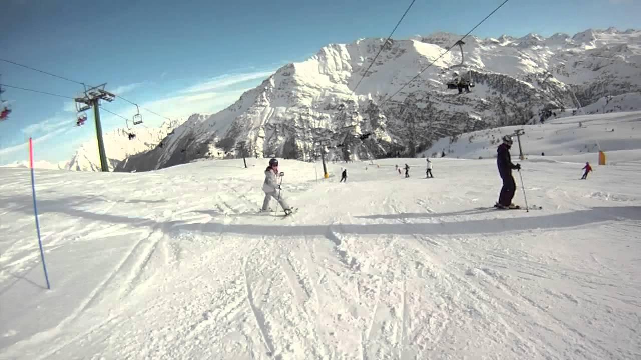 Christmas 2012 La Thuile Italy Aosta valley part1 skiing - YouTube