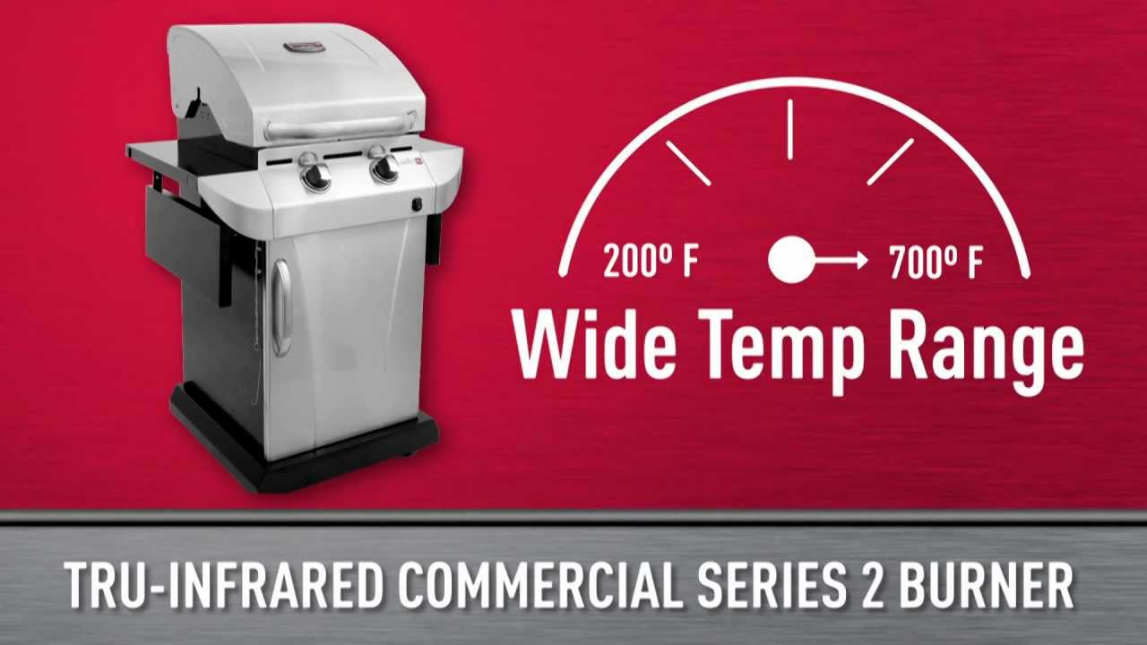 Char broil commercial series gas grill - Char Broil Tru Infrared Commercial Series 2 Burner Gas Grill