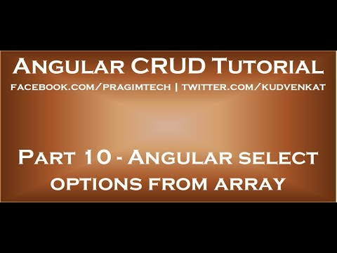 Angular select options from array