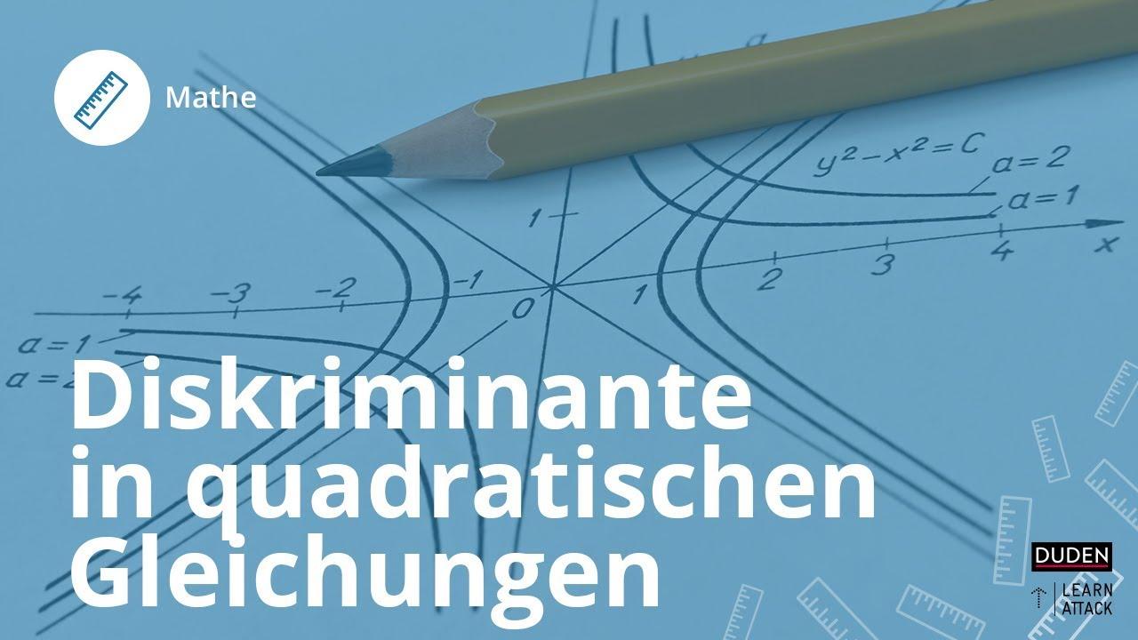 Die Diskriminante in quadratischen Gleichungen – so nutzt du sie ...