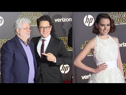Star Wars: The Force Awakens World Premiere- George Lucas, Daisy Ridley, Adam Driver And More